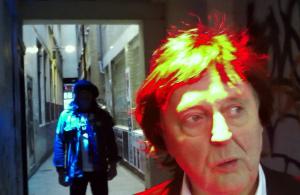 Paul McCartney lookalike in the passage of uncertainty in Soho London